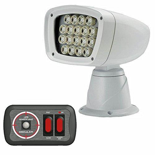 Osculati wasserdichter LED Scheinwerfer 12 Volt 100 + 90W mit Joystick-Schaltplatte