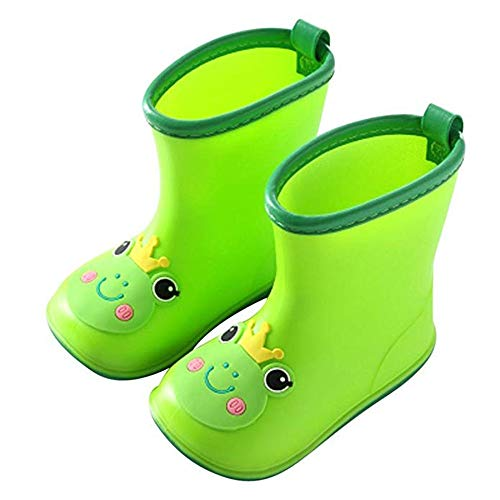 Dcola HLHN Baby Boys Girls Rainboots, Toddler Wellies Kids Cartoon Duck Rubber Waterproof Rain Shoes Children Infant