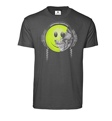 Bedrucktes Herren Streetwear T-Shirt mit Motiv Killing Beats (M, Koks) (Skateboard-kopfhörer)