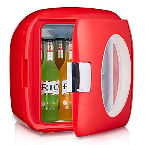 9L Auto Kühlschrank Mini Kleinen Kühlschrank Schlafsaal Student Office Car Home Dual-Use Kühlschrank,Red