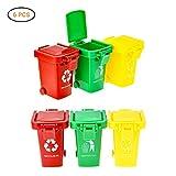 Surenhap 6 pezzi Garbage bin giocattolo spazzatura ordinati vari veicoli dell'immondizia come un giocattolo per i bambini Estensione ottimale per camion della spazzatura, cestino perfetto caricatore per vivaio