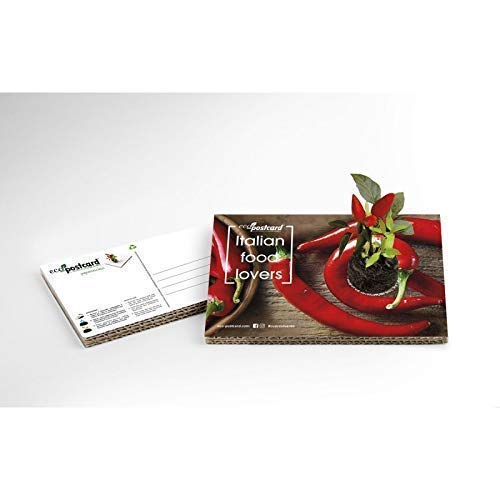 Eco-Postcard Italian Food Lovers - Chili Pepper