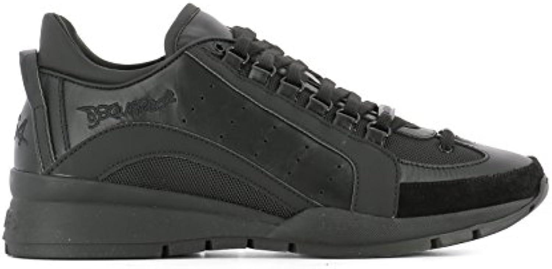 DSQUARED2 Herren W17SN4041306M084 Schwarz Leder Sneakers