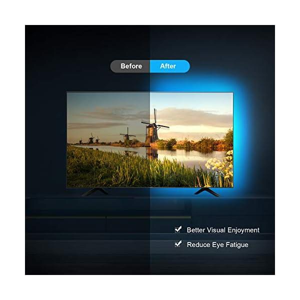 LED TV Retroilluminazione, OMERIL 2.2M Retroilluminazione TV LED USB alimentata con Telecomando e 16 Colori e 4 Modalità… 3 spesavip