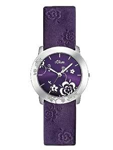 s.Oliver - SO-1960-LQ - Montre Femme - Quartz - Analogique - Bracelet cuir violet