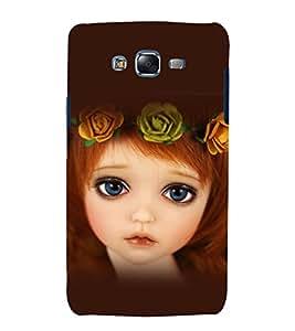 printtech Cute Girl Doll Back Case Cover for Samsung Galaxy J7 / Samsung Galaxy J7 J700F