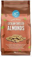 Marca Amazon - Happy Belly Almendras sicilianas sin cáscara 4x500g