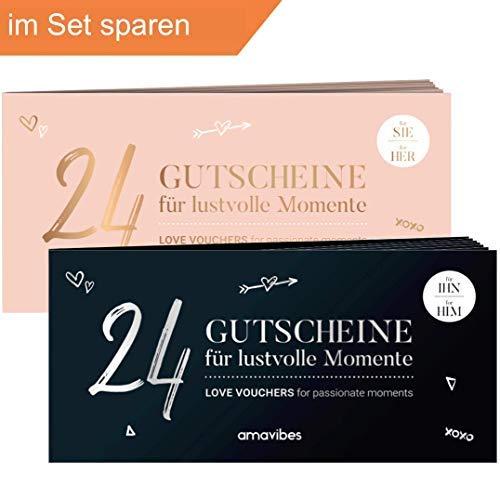 Spar-Set: Premium Liebes-Gutschein-Hefte im Doppelpack √ 2x24 als Geschenk-Idee für Sie & Ihn √ Sexy Paar-Geschenk zu Jubiläum, Jahrestag, Sex-Gutscheine, Hochzeits-Geschenk Braut-Paare