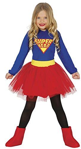 Guirca–Kostüm 3–4Jahren super hero, U (83224.0) (Supergirl Kostüm Mädchen)