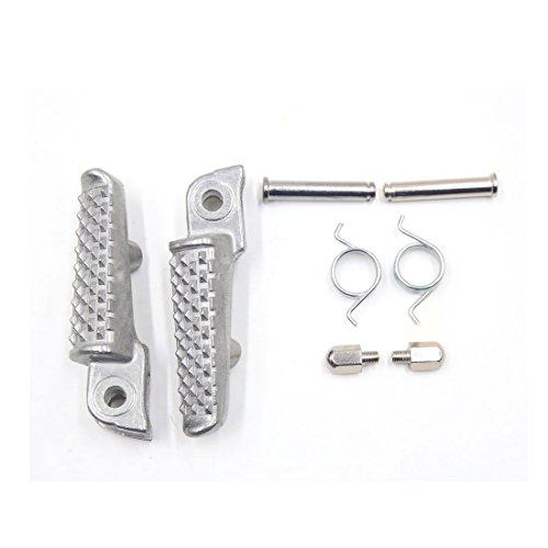 sourcing map 10 en 1 Ton Argent Alliage Aluminium Repose-Pied Pied Pédale Peg pour Moto