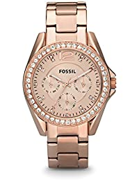 Fossil Riley Analog Rose Gold Dial Women's Watch - ES2811
