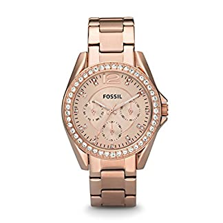 Fossil Riley Analog Rose Gold Dial Women's Watch – ES2811