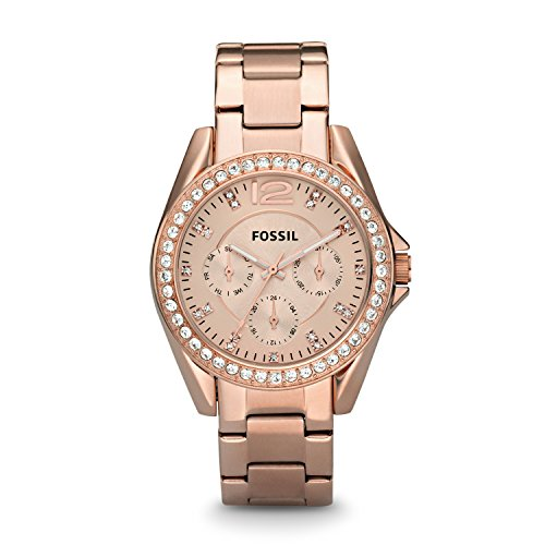 Fossil Riley Analog Rose Gold Dial Women's Watch