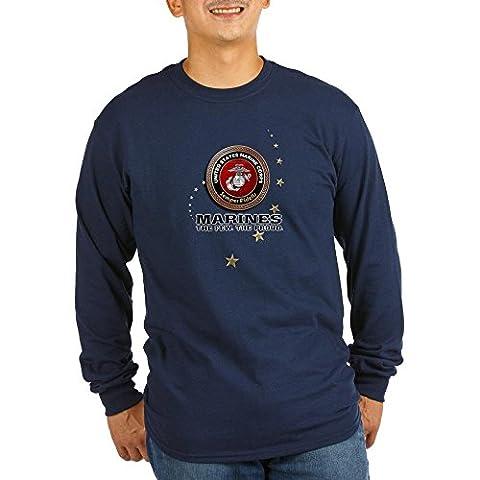 CafePress - USMC: - Unisex Cotton Long Sleeve