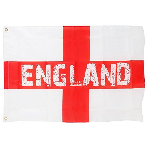 England St George Kreuz Flagge (60 x 90 cm) (Weiß/Rot)