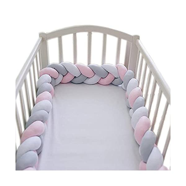 elegantstunning Baby Crib Bumper Knotted Braided Plush Nursery Pillow Cushion elegantstunning Made of high quality material, soft and comfortable, safe, durable. Avoid your baby's head, legs or hands bumping into crib, keeps your little ones safe. Fits all baby cribs or toddler stroller carriage, flexible to use. 15