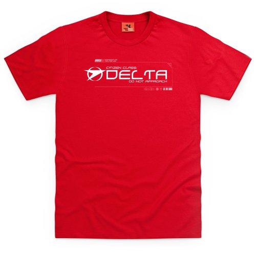 Official Blake's 7 T-Shirt - Delta, Herren Rot