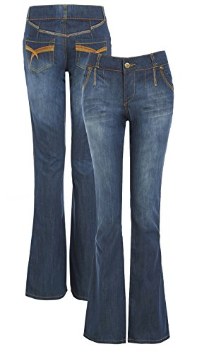 SS7 New Women's Bootcut Relaxed Denim Jeans, Size 8-16
