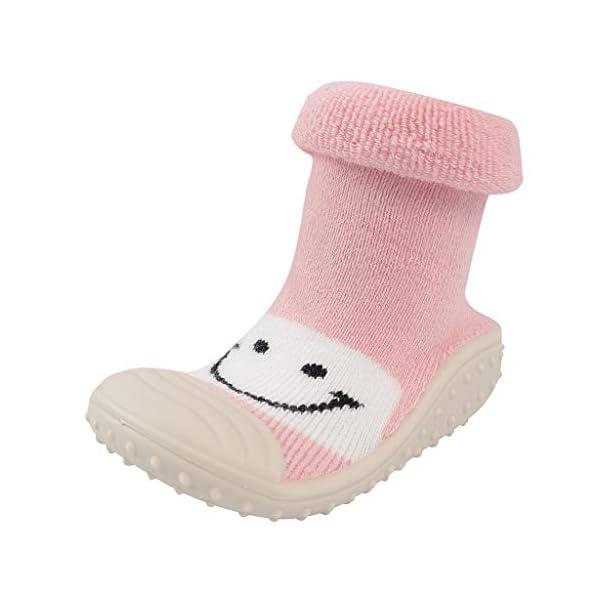 Mitlfuny Niños Niñas Invierno Calentar Suela de Goma Tejer Calcetines de Piso para Recién Nacido Bebé Antideslizantes… 4