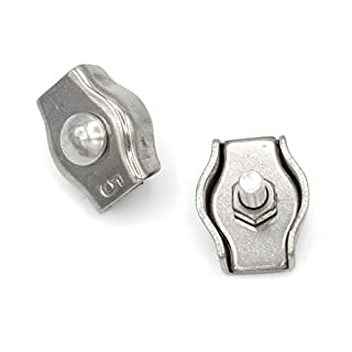 Simplex Drahtseilklemme 3mm Edelstahl [10 Stück] V4A AISI 316 Inox | HEAVYTOOL