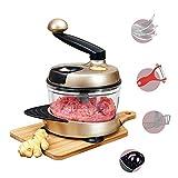 Taglierina Manuale tritacarne/Mixer/Carne per Le Verdure di separazione, Frutta, insalate e Uova/Oro Champagne,d'oro