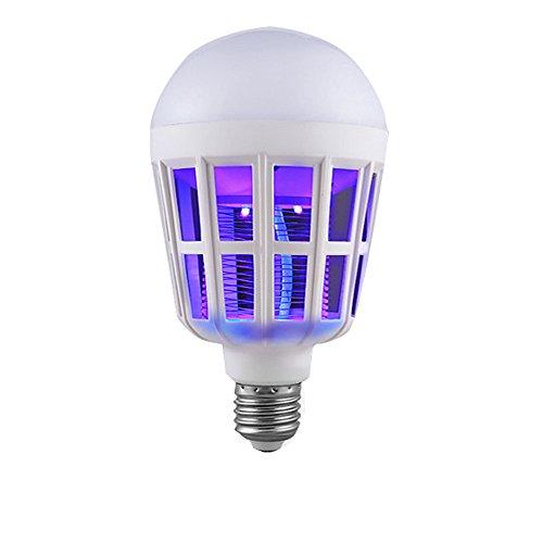 FeiliandaJJ 2 in 1 Insektenvernichter Elektrisch Nachtlicht LED Anti-Moskito-Lampe 15W 1000LM 6500K Insekten-Fliegenköder Kill Bulb für Kinderzimmer Schlafzimmer Wohnzimmer Garten (Weiß)