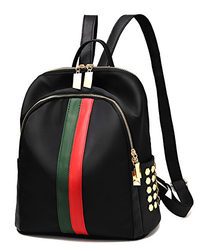 Respeedime , Damen Rucksackhandtasche Mixed Black M Nylon Black