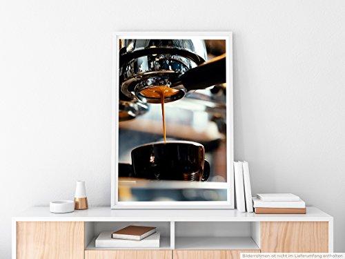 EAU ZONE Home Bild - Food-Fotografie – Frisch gebrühter Espresso- Poster Fotodruck in höchster Qualität