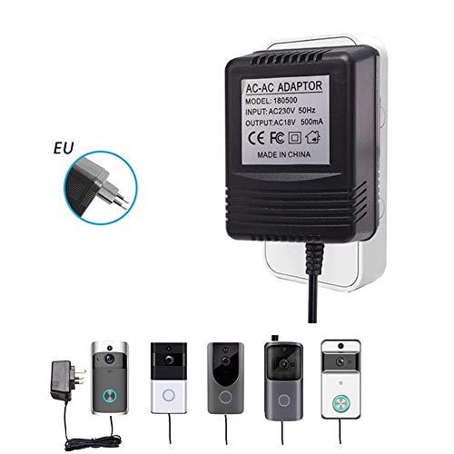 Video-Türklingeladapter, Smart-Türklingel-Steckernetzteil 18 V AC 500 mA mit 2,5 m Kabel,EU -