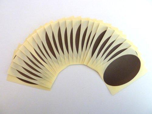 25 etiquetas,82x51mm ovalado,marrón oscuro,código de color PEGATINAS, autoadhesivo Adhesivo Etiquetas Colores