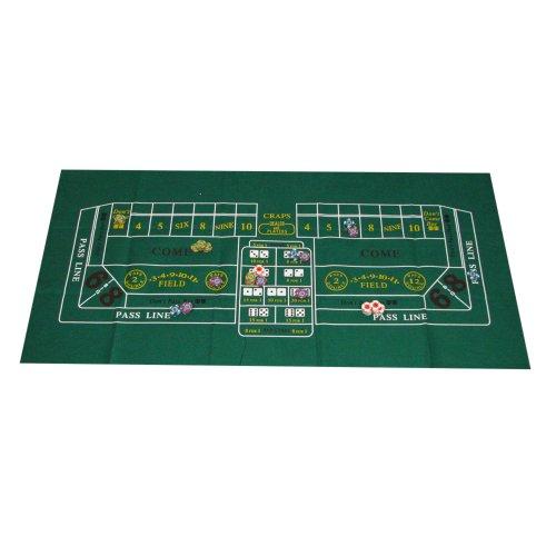 Trademark Poker Casino Craps Layout, 24x 122cm