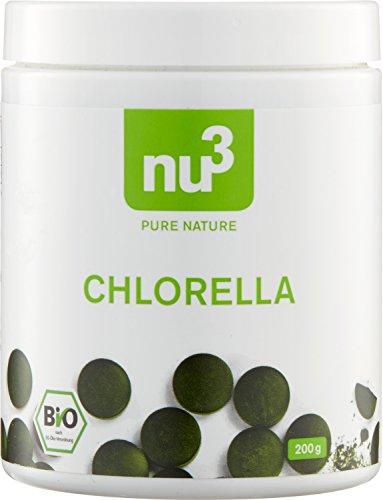 nu3 Bio Chlorella Presslinge 500 Tabletten pro Verpackung - Bio-zertifizierte Superfood-Algen in höchster Reinheit und Qualität - Von Natur aus reich an Vitamin B12 & Mineralstoff Eisen