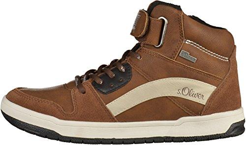 s.Oliver5-45302-37-305 - Pantofole a Stivaletto Bambino Marrone