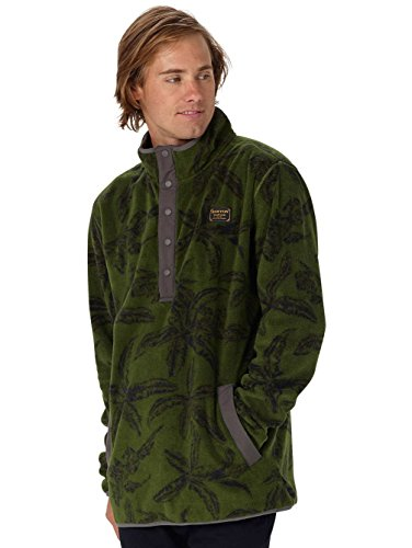 Burton Herren Hearth Fleecepullover rifle green tropical