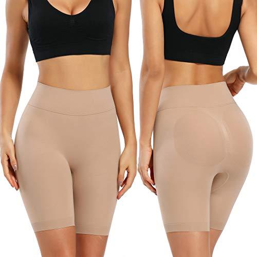 Joyshaper Miederhose Bauch Weg Stark Formend Shapewear Damen Miederpants mit Bein Hohe Taille Figurformende Shaping Unterwäsche (Beige, Large) - 6