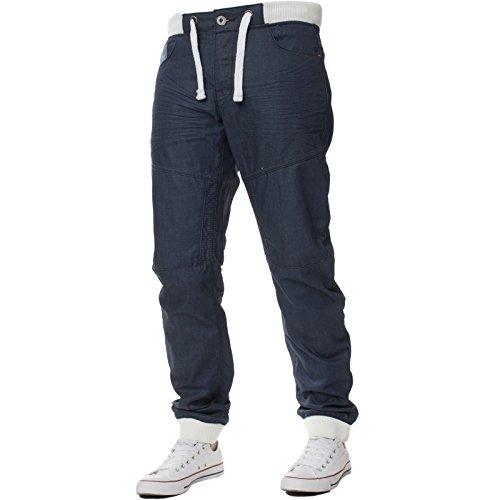 Enzo Mens Cuffed Denim Joggers Jeans Latest All Waist Regular 28-48