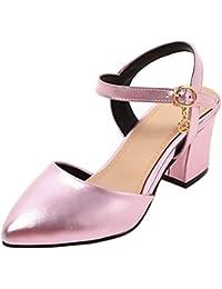 RAZAMAZA Mujer Moda Tacón Medio Sandalias  Zapatos de moda en línea Obtenga el mejor descuento de venta caliente-Descuento más grande