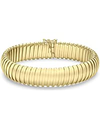 "Carissma Gold Damen-Armband Carissima 9ct Yellow XL Flexi Tube Bracelet 7.25"" 375 Gelbgold 18.42 cm - 1.27.2101"