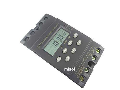 MISOL 1 unit of 220V Timer Switch Timer Controller LCD display,program/programmable timer switch,25A amps/220V Zeitschaltuhr Timer Controller-LCD-Display, Programm / programmierbarer Timer-Schalter, 25A Ampere -