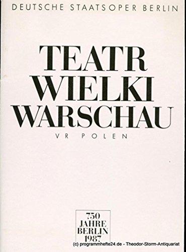 Programmheft Teatr Wielki Warschau. 750 Jahre Berlin gebraucht kaufen  Wird an jeden Ort in Deutschland