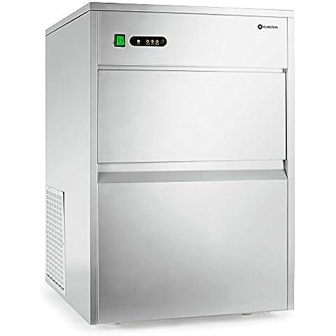 Klarstein Powericer-XXXL máquina de hielo industrial con pala y sistema de tubos (380 W, hasta 50 kg de cubitos al día, diseñado en acero inoxidable) -