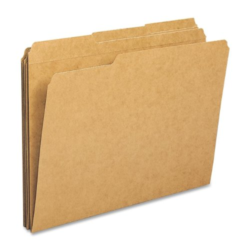 Sparco - File Folders, Ltr, 11PT, 1/3 Exp, 100/BX, Kraft, Sold as 1 Box, SPRSP20890