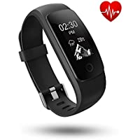 Tonbux Fitness Tracker with Heart Rate Monitor Activity Tracker Smart Watch Pedometer Sleep Monitor Calorie Step Counter with 14 Training Modes Breathing Guide for Android or iOS Smart Phone iPhone