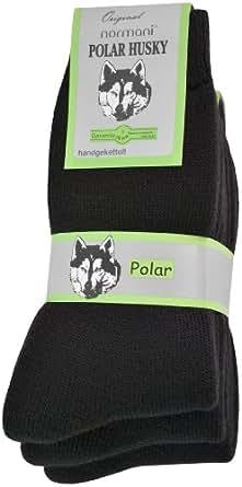 6 Paar Nie wieder Kalte Füße! Polar Husky® Winter Socken, super dick und sehr warm! Größe 47-50 Farbe Schwarz