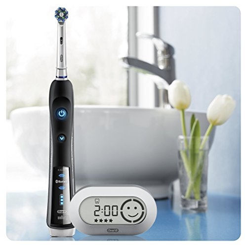 Oral-B Smart Series 6500 CrossAction Electric Rechargeable Toothbrush with Bluetooth Connectivity and Smart Series Powered by Braun (Packaging May Vary) – Ships with 2 pin UK plug
