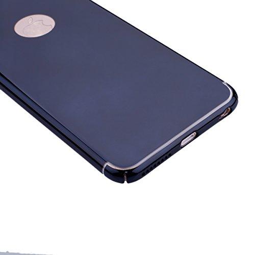 Coque iPhone 6 Plus,Coque iPhone 6S Plus,ikasus® iPhone 6S Plus / 6 Plus Housse Coque Miroirs TPU silicone miroir Étui / TPU miroir Étui Housse Silicone Étui Téléphone Couverture TPU avec brillant Cri Noir