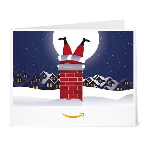 Amazon.de Gutschein zum Drucken (Weihnachtsmann im Kamin) -