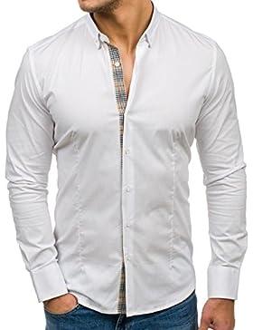 BOLF Camicia Casual a Maniche Lunghe – AOSFUS 7197 - Uomo