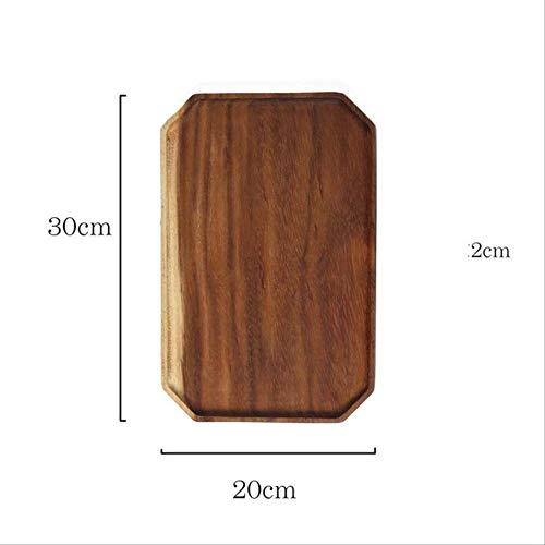 Platte Kzfs Octagon Form Holz Pfanne Platte Obst Gerichte Untertasse Tee Tablett Dessert Abendessen Brot Holz Platte JJ1436-30x20CM Sonoma Pfanne