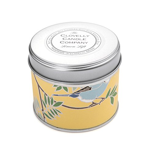 Clovelly Soap Co Handmade Natural Scented Lemon Lift Aromatherapy Soy Wax Tin Candle